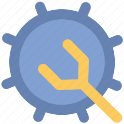 adjust, cog spanner, repair, setting, spanner, work tool, wrench icon