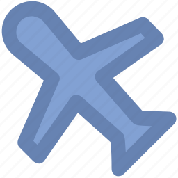 aeroplane, aircraft, airplane, aviation, fly, jet, plane icon