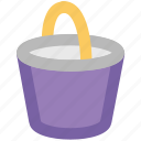 water, water bucket, pot, bucket, pail