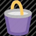 bucket, pail, pot, water, water bucket