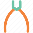 nippers, open pliers, pincers, plier, repair pliers, tongs, work tools icon
