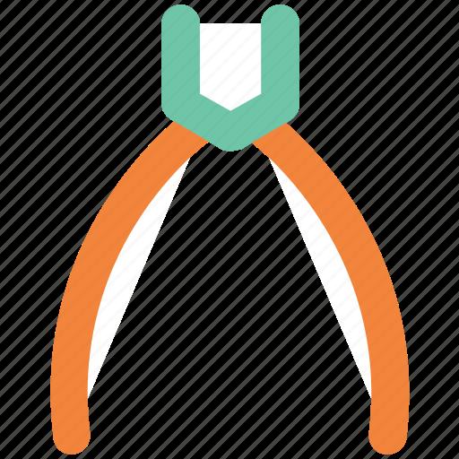 nippers, open pliers, pincers, plier, repair pliers, tongs, work tools icon