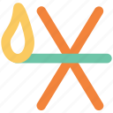 bunsen burner, burner, burning, flame, hot, light icon