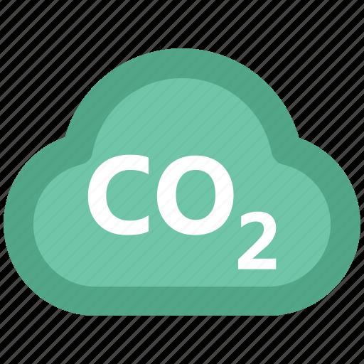 carbon cloud, cloud, co2 emission, co2 formula, dioxide, ecology waste icon