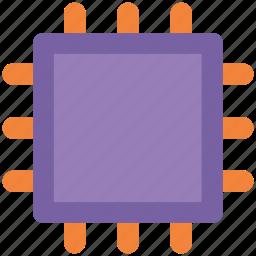 chip, cpu processor, desktop processor, microchip, processor icon