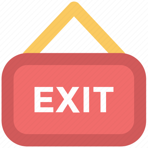 direction arrow, exit, exit hotel, hanging board, information board, outside icon