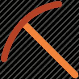 ax, axe, chopping, cutting, gardening tool, splitting axe, working tool icon