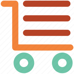 cargo cart, cargo trolley, cart pushing, pushing trolley, shopping trolley icon