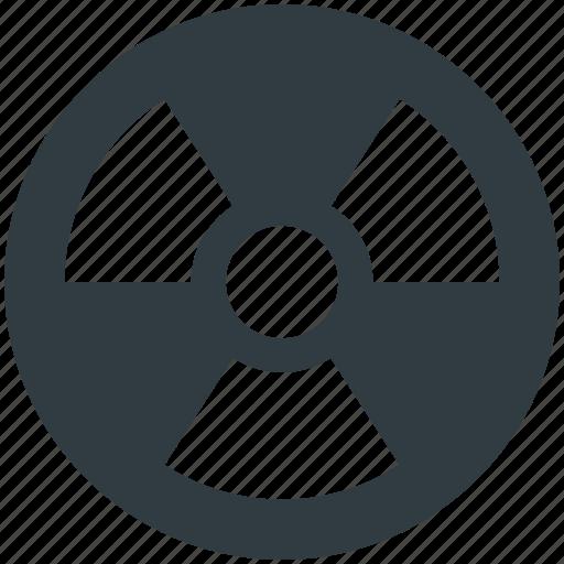 danger, nuclear, radiation, radioactivity symbol, toxic icon