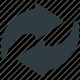 recycle, redo, refresh arrows, reload, repeat icon