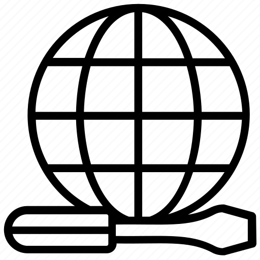 construction logo, global construction, global engineering, global services, global technology icon
