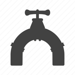 industrial, metal, pipe, stainless, steel, technology, valve icon