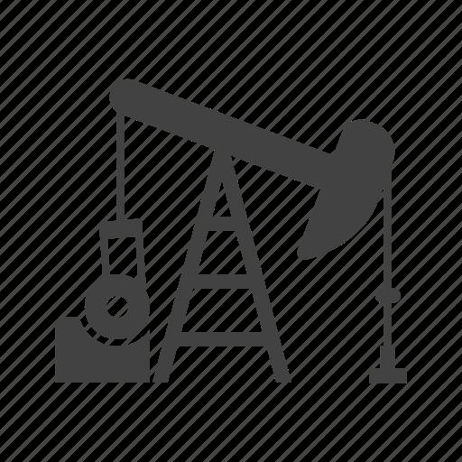 field, industry, oil, petroleum, pump, pumpjack, well icon