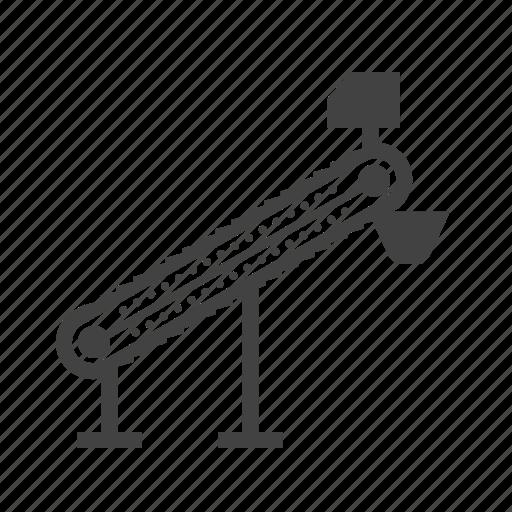belt, conveyor, factory, machine, manufacturing, plant, production icon