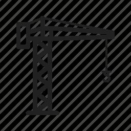 building, construction, crane, equipment, industry, steel icon