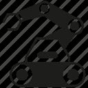 auto, industry, machine, manufacturing, rescue robot, robot, robotics icon