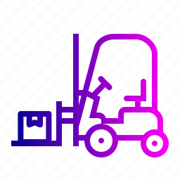 boxes, delivery, forklift, goods, parcel, shipping, transport icon