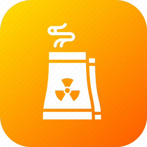 economy, factory, industry, production, radiactor, radiation, radioactive icon
