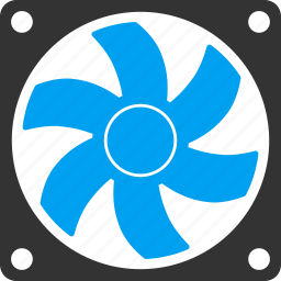 air, computer fan, conditioner, motor, rotate, rotor, wind icon