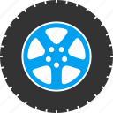auto, automobile, car wheel, gear, rubber tire, service, transport icon