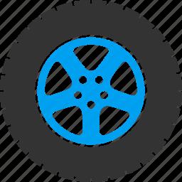 auto, automobile, car wheel, gear, rubber tire, service, transport icon