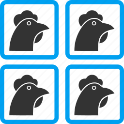 agriculture, aviculture, chicken factory, farm cell, hen coop, henhouse, roost icon