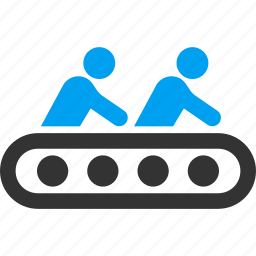 conveyor, factory, industrial, industry, manufacturing, process, production icon