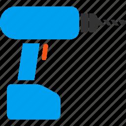 drill, equipment, gun, hardware, industry, instrument, perforator icon