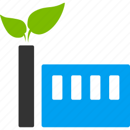 eco plant, ecology, environment, factory, green industry, industrial, work icon
