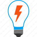 bulb, electric light, electrical lamp, electricity, energy, illumination, lightbulb icon