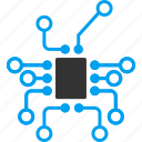 controller, electronic, electronics, hardware, scheme, technology, topology icon