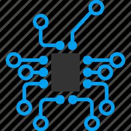 controller, electronic, electronics, hardware, scheme, technology, topology icon