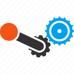 application, engine, gears, machine, mechanic, process, software icon