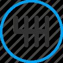 automobile gears, car service, gear box, gearbox, gears, machine, transmission icon