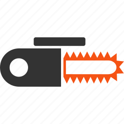 cut, cutter, cutting, equipment, power saw, tools, tree killer icon