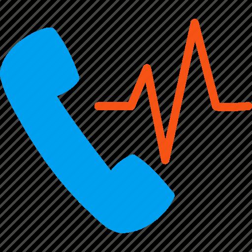 call, communication, phone, signal, sound, telephone, telephony icon