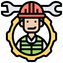 engineer, manager, mechanic, repair, technician icon