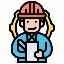 engineer, inspector, labour, manager, technician icon