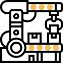 assembly, robotic, line, production, manufacture icon