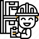 distributor, product, storage, warehouse, checklist icon