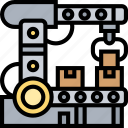 assembly, manufacture, line, robotic, production icon