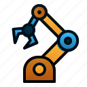 robot, automation, arm, robotic, manufacture, machine, industry icon