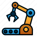automation, arm, robotic, manufacture, machine, industry, conveyor icon