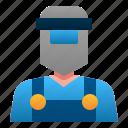 welder, engineer, manufacture, man, industry, avatar, people