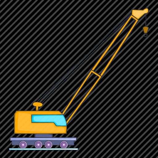 high crane, illustration, machinery, manual, repairing, sign icon