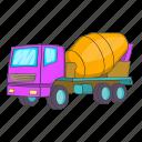 car, concrete mixer, illustration, machinery, manual, mixer, sign
