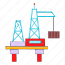 building crane, equipment, illustration, machinery, manual, repairing, sign icon