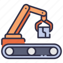 arm, automation, industrial, industry, machine, robot, technology icon
