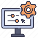 cogwheel, computer, gear, industrial, industry, settings, work icon