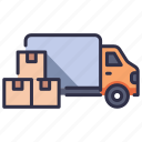 delivery, distribution, goods, industry, retail, transportation, warehouse icon